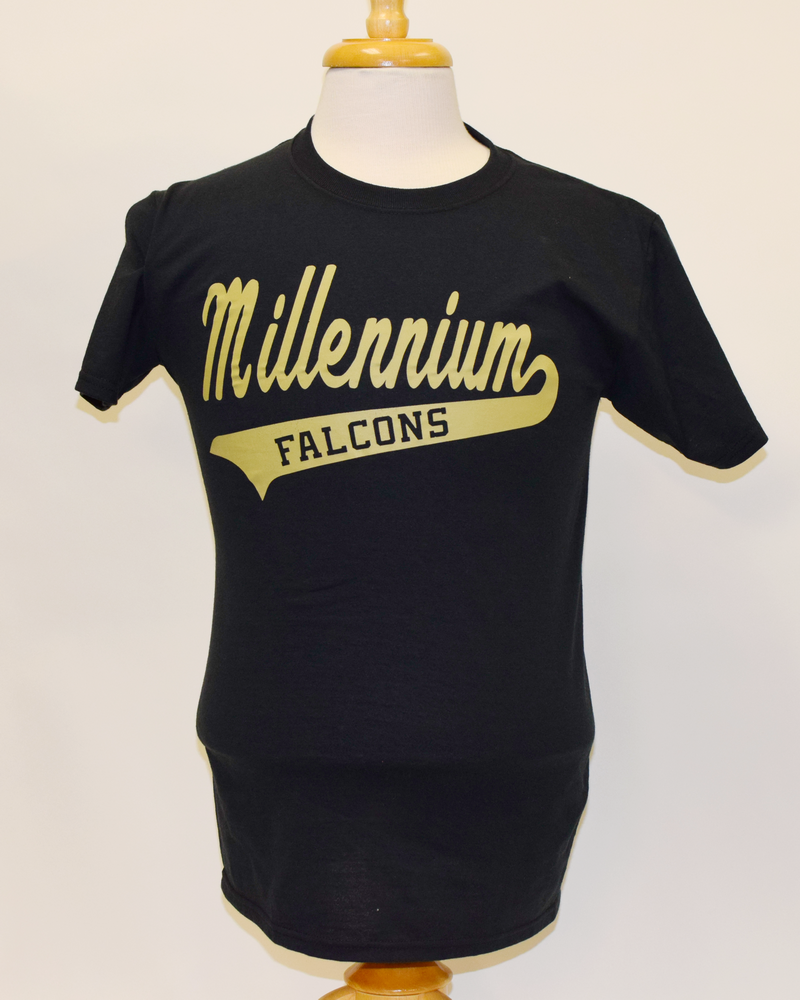 Millennium High black gold shirt